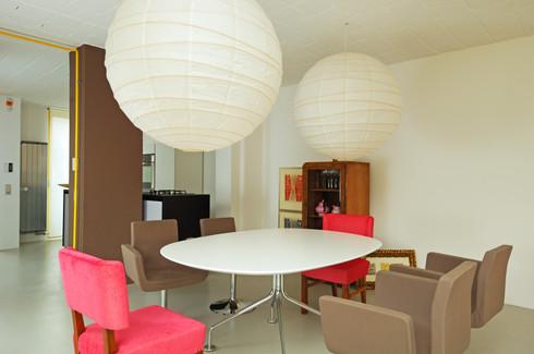 studio db ai interior U dinning room design