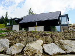 studio db ai amphibian luxury mountain house architecture