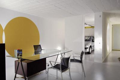 studio db ai atrium interior design in-room car parking architecture