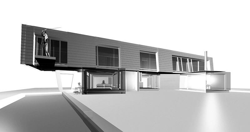 studio db ai timeless floating house