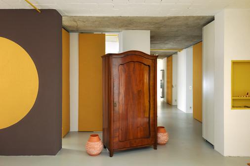 studio db ai interior U residence entrance hall design
