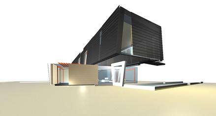 studio db ai house of two lamellas pool view bedroom