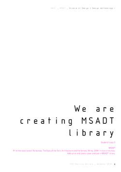 PhD D Batista MSADT M3_SD_DM I_part III