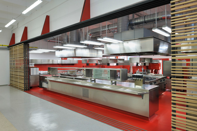 studio db ai School kitchen architecture public kitchen architecture