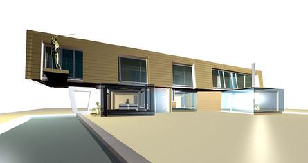 studio db ai house of wooden lamellas double atruim design