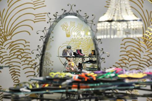 studio db ai art deco fashion boutique crystal chandelier