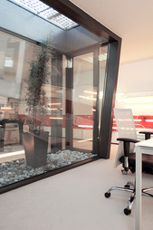studio db ai youth suite MA19 residential area with an atrium