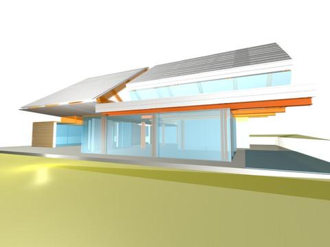 studio db ai triangle garden house architectural design