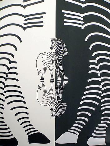 studio db ai industrial fashion pop-up store zebra pattern design