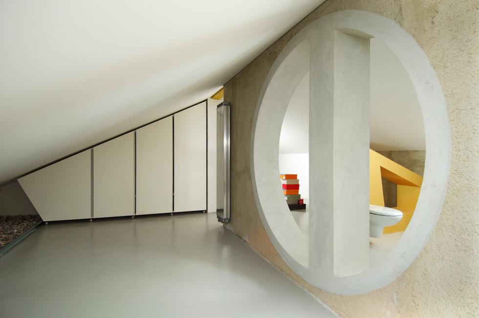 studio db ai interior U garderobe design in-between open spaces