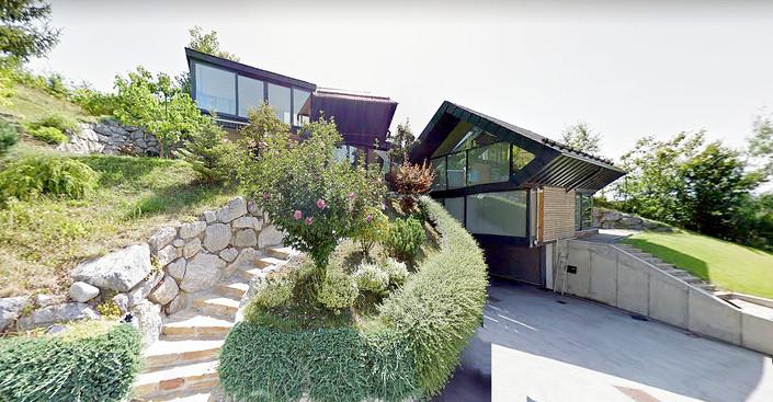 studio db ai amphibian luxury hillside architecture