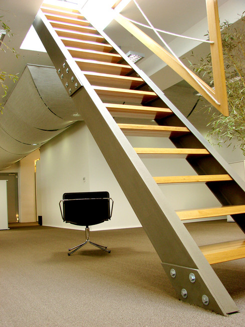 studio db ai office architecture pp 9002 office staircase design