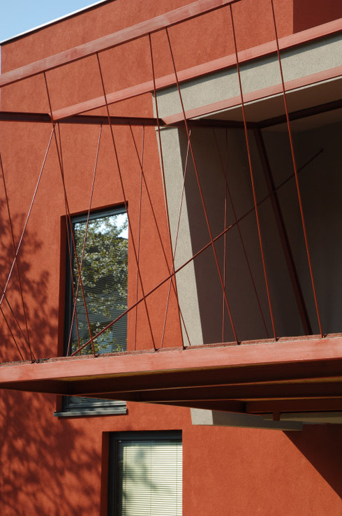 studio db ai house 4002 red facade design