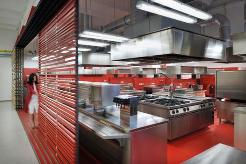 studio db ai School kitchen architecture minimalist industrial kitchen design