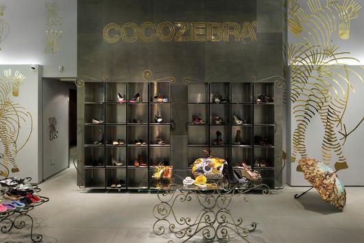 studio db ai art deco fashion boutique luxury golden store
