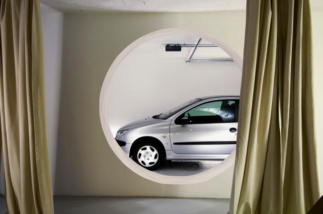studio db ai atrium interior in-room car parking architecture