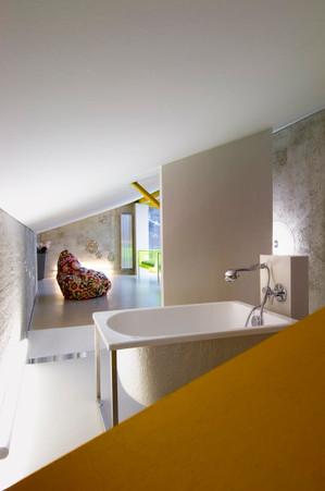 studio db ai atrium interior design A open bathroom design