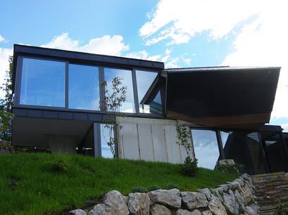 studio db ai amphibian contemporary mountain mansion design
