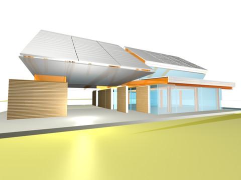 studio db ai triangle garden dwelling architecture