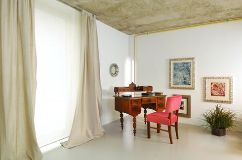 studio db ai interior U curtain and furniture design
