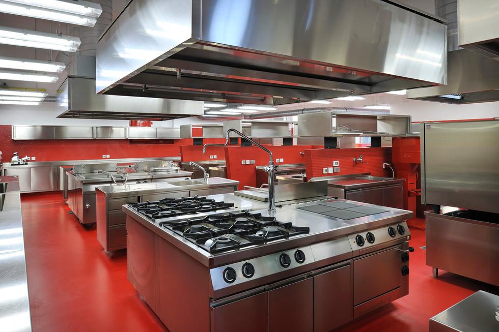 studio db ai School kitchen architecture modern school kitchen design