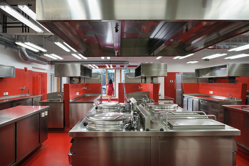 studio db ai School kitchen architecture kitchen bakery