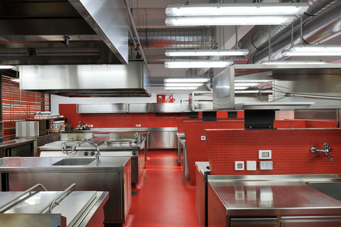 studio db ai School kitchen architecture healthy scool kitchen