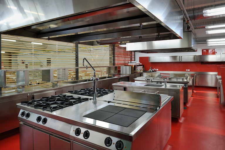 studio db ai School kitchen architecture modern school kitchen design
