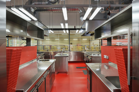 studio db ai School kitchen architecture sustainable public kitchen design