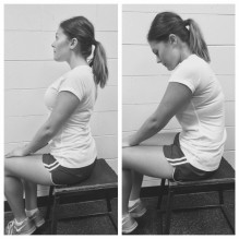 slouch over correct exercise