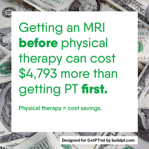 PT saves money over MRI