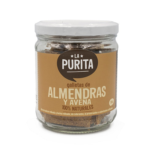 FR ALMD- Frasco de Galletas de Avena y Almendras 130 grs