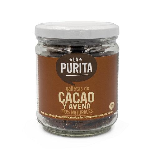 Frasco de Galletas de Avena y Cacao 130 grs