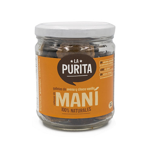 FR MAMX - Galletas de avena, vainilla y cacao rellenas de mani 200g