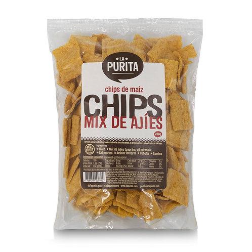 Bolsa de Chips de maiz y mix de ajies 200Grs