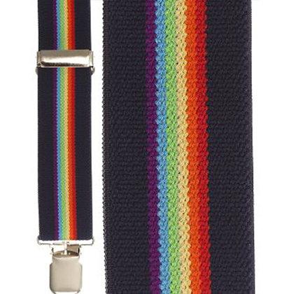 Navy Rainbow Terry Stripe
