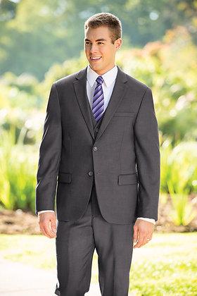 Slim Fit Dark Grey 3-Piece Nested Suit