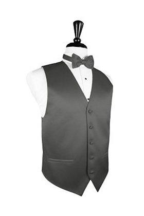 Satin Charcoal Vest