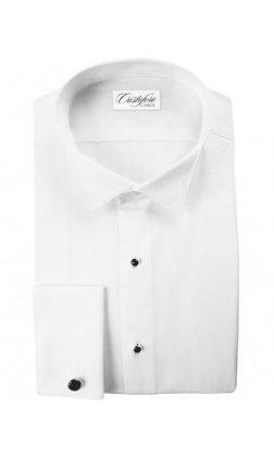 """Fino"" French Cuffs White Plain Wingtip"