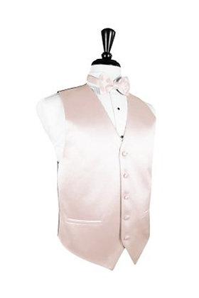 Satin Blush Vest, Tie & Pocket Square Set