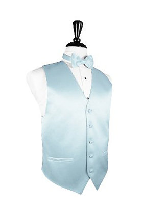 Satin Light Blue Vest