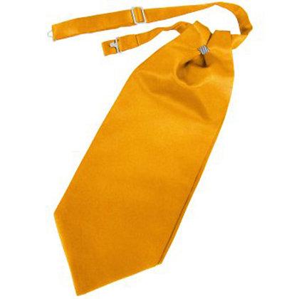 Tangerine Solid Satin Cravat
