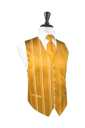 Striped Satin Tangerine Vest