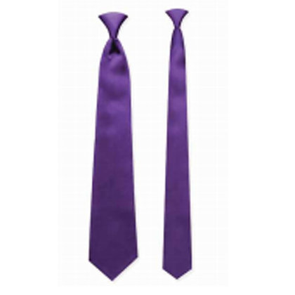Purple Satin Windsor Tie