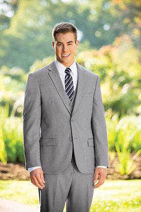 Slim Fit Light Grey 3-Piece Nested Suit
