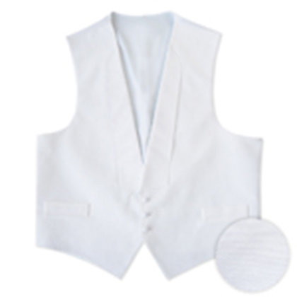 White Pique Satin Full Back Vest
