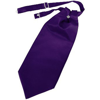 Purple Solid Satin Cravat