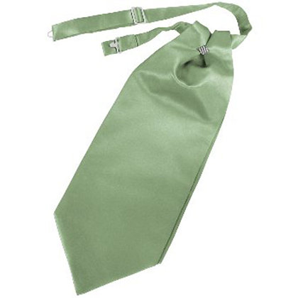 Sage Solid Satin Cravat