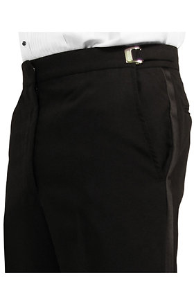 Black Non-Pleated Classic Fit Trouser