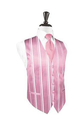 Striped Satin Rose Petal Vest